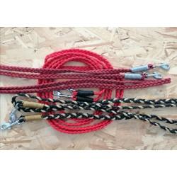 Rênes en corde tressées plat 3 brins de 4mm